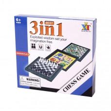 3IN1 mágneses úti társasjáték (sakk, ki nevet a végén, létrák és kígyók)   Rubik kocka