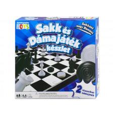 Sakk és dámajáték készlet | Rubik kocka